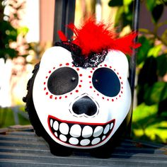 Piggy Bank // Mexican Piggy Bank //  Day of the Dead Piggy Bank // Catrina Piggy Bank by TheMexicanGringo on Etsy