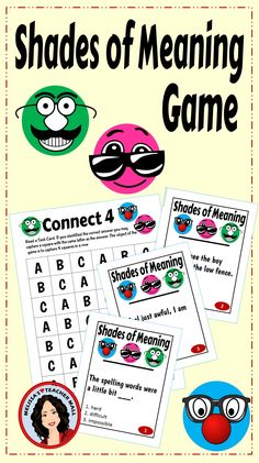 Students need lots of practice with Shades of Meaning. Why not make it fun and let them play a game. This Connect 4 Game has 24 Task Cards with multiple choice answers. Students will read a task card and choose an answer if they are correct they get to capture a square on the game board. The first one to get 4 squares in a row wins. Oh, but wait. You can only capture a square that has the same letter as the answer. Now, that is FUN!