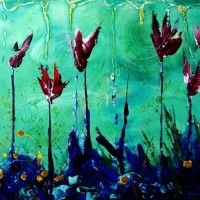 Underwater Flowers by Sarah Goodyear - I bought this print in Boone, NC. I absolutely love Sarah Goodyear's art. She is amazing!