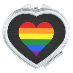 LGBT pride hearts  Mirror Mirrors For Makeup