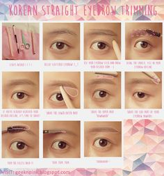 This is how I trim my brows. It's actually pretty easy! :D Forming straight brows can make you look younger and more innocent! HAHA It's a trend in South Korea and most likely, in the whole globe!