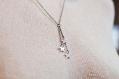 trio of stars necklace  stars necklace  tiny star by truche
