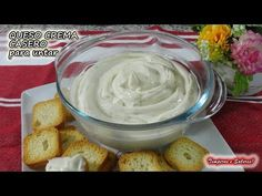 QUESO CREMA CASERO con solo 2 ó 3 ingredientes mejor imposible - YouTube Sweet Crepes Recipe, Latin Food, I Love Food, Tapas, Food To Make, Food And Drink, Favorite Recipes, Homemade, Snacks