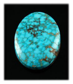 Turquoise Stones - Here is a real American Turquoise icon. This is the perfect specimen of a real Turquoise Cabochon from the Kingman Turquoise mine in Kingman, Arizona.