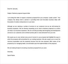 Business Proposal Letter Doc Useful Document Samples Pinterest