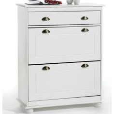 schuhschrank colmar 2 kipper 1 t r 1 schublade wei. Black Bedroom Furniture Sets. Home Design Ideas