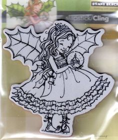 LOVE this one..New Cling Penny Black RUBBER STAMP FAIRY HOLLY CHRISTMAS free usa ship in Crafts   eBay