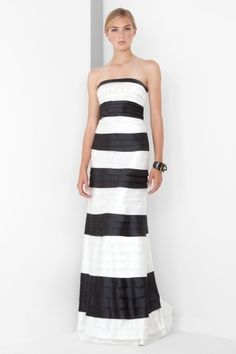 <3 the thick stripes/tiers with the fitted bodice.  instant skinny and instant tall: BCBG black and white tiered gown (though i have to admit i think it looks better on me than the model!)