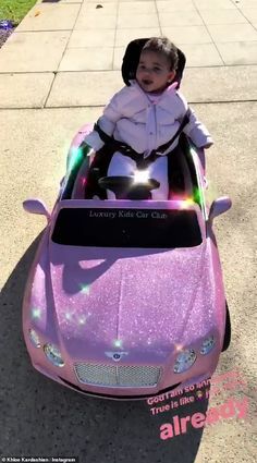Khloe Kardashian shares video of True riding around in toy Bentley Cute Little Baby, Cute Babies, Baby Kids, Baby Girl Dolls, My Baby Girl, Luxury Kid Cars, Kids Outfits Girls, Girl Outfits, Kylie