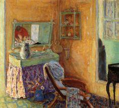 """Interior, 1913, Pierre Bonnard Size: 56.5x63 cm Medium: oil on canvas"""