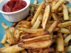 If you want to eat healthy French fries, you have to make them yourself using coconut oil! Here's a great recipe (use organic potatoes).