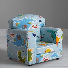 Buy little home at John Lewis Globe Trotter Armchair from our Children's Chairs & Tables range at John Lewis & Partners. Toddler Armchair, Kids Armchair, Bean Bag Pouffe, Bean Bag Chair, Kids Table And Chairs, Chairs For Sale, Little Houses, Boy Room, John Lewis