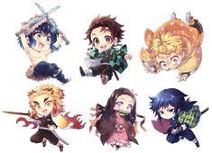 Kimetsu no Yaiba (Demon Slayer) Image - Zerochan Anime Image Board Kawaii Chibi, Chibi, Anime Demon, Slayer Anime, Demon, Anime Fan, Chibi Characters, Chibi Drawings, Anime Chibi