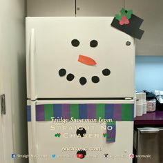 Straight No Chaser Fridge Snowman!  Repin on http://www.sncmusic.com/adventcalendar for your chance to win Straight No Chaser merchandise throughout the holiday season! Have you bought gifts for everyone on your list yet? Get 5 copies of Christmas Cheers and get a free Straight No Chaser mug: http://atlr.ec/1bjoAxQ