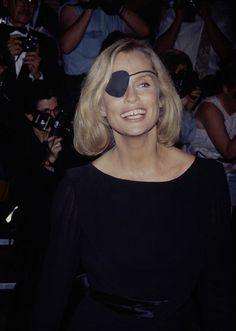 Lauren Hutton rocking an eyepatch.