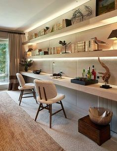 Modern Home Offices, Small Home Offices, Home Office Setup, Home Office Space, Office Ideas, Office Interior Design, Office Interiors, Study Room Decor, Study Room Design