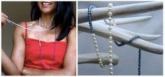 """Perlen Halskette """"Combination"""" Eine großartige Kombination von den Perlen und Modeschmuck, leicht und elegant. Durch farbliche Varianz und Kleinheit der Perlen unterscheidet sie sich von anderen Perlenketten und ist ebenfalls als Armband tragbar."""