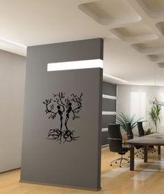 WALL VINYL STICKER DECAL ART MURAL TWO TREES LIKE SKELETONS CUTE DESIGN K211 #MuralArtDecals