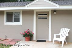 How to Use Trim to Update Exterior Doors and WIndows   The Kim Six Fix
