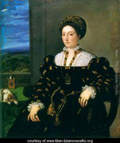 AD 1538 Portrait of Eleonora Gonzaga della Rovere by Titian