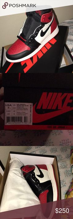 Bred toes 1's ‼️Brand new‼️ Bought them for no reason . I don't really want it Nike Shoes Sneakers
