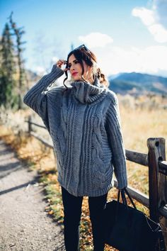Cozy Cable Knit Sweater Dress