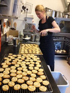 """Our baking """"auntie"""" Kit, making our brandy butter cookies. The recipe is from my great grandmother."""