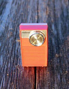 Vintage Red Transistor Radio by Realtone