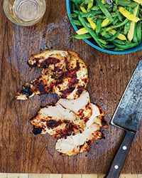 Yogurt-Marinated Grilled Chicken Recipe on Food & Wine  - This easy, fresh-tasting yogurt marinade helps the chicken stay juicy even if it's a little overcooked. The marinade also works well with skin-on boneless breasts or thighs; serve with citrusy sauvignon blanc.