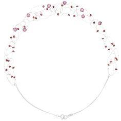 Suspended on extremely fine silver wire, the pink natural gemstone beads seem to float on this designer's necklace. Pink Gemstones, Natural Gemstones, Raspberry Color, Garnet Stone, Garnet Necklace, Necklace Designs, Gemstone Beads, Sparkle, Wire