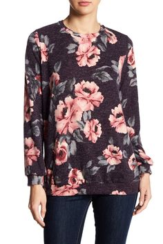 Long Sleeve Floral Sweater