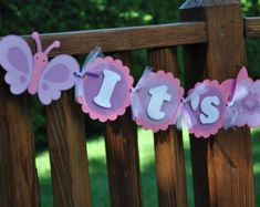 butterfly baby shower banner - Google Search