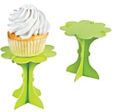 These delightful little cupcake pedestals are an elegantly simple way to display individual cupcakes. The cardboard stands are easy to assemble and wh. Cupcake Decorating Party, Cupcake Party, Cupcake Birthday, Hot Pink Cupcakes, Mini Cupcakes, August Baby Shower, Cardboard Cupcake Stand, Carnival Supplies, Monster High Party