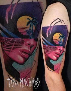 Abstract Tattoos, Retro Waves, Art Pop, Ink Illustrations, Tattoo Sketches, Fitness Nutrition, Color Tattoo, Blackwork, South America