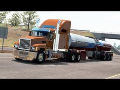 [ATS ] American Truck Simulator beta - Mack - Milk Transport - Bend to Eureka Eureka California, Truck Games, American Truck Simulator, Transportation, Gaming, Semi Trucks, Trailers, Milk, Videogames