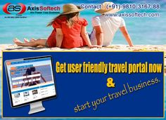 Looking for B2B-B2C Tour and Travel Portal Software Development Services in India? Axis Softech provides Secure and all modules (Flights/Hotel/Car/Bus/Cruise/Holiday Packages) Oriented Tour and Travel Portal/Website/Software Development Services, For more info. just Visit Our Website Available at http://www.axiswebtech.com