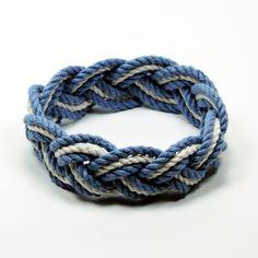 Sailor Bracelet Nautical Colors with White Cotton Stripe