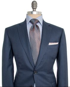Brioni Navy Tonal Suit - 2 button jacket - Notch Lapel - Fully lined - Made in…