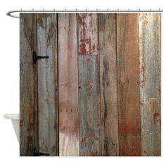 Amazon.com - CafePress Shower Curtain - rustic western barn wood Shower Curtain - White -