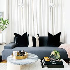 Forget gallery walls—curtain walls are the next big thing, says celebrity interior designer Jeremiah Brent Pink Curtains, Curtains Living Room, Velvet Curtains, Curtain Decor, Lined Curtains, Beige Curtains, Curtains Behind Bed, Colorful Curtains, Headboard Curtains