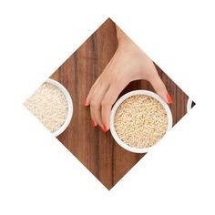 Why we choose brown rice over white (everytime!) Brown rice has more fiber, more protein and more 'healthy' nutrients overall. White rice is just empty calories, with a higher GI value.