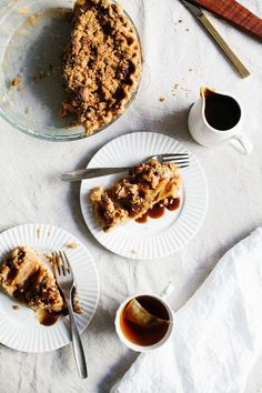 Dutch Apple Pie With Muscovado Toffee Sauce