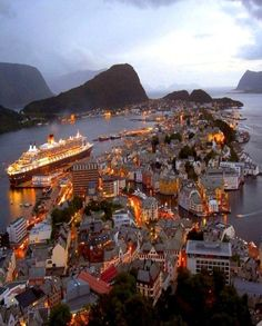 A magical city to live in (Alesund, Norway) Alesund, Places Around The World, Travel Around The World, Around The Worlds, Places To Travel, Places To See, Travel Destinations, Travel Tips, Lofoten