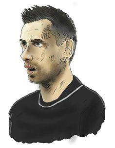 Robert Szczerbaniuk caricature (photo: Lukasz Stanek) #volleyball #caricature #art