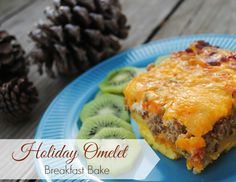 Holiday Omelet Breakfast Bake Recipe from MamaBuzz {mamabzz.com} #breakfastrecipe #recipe #ad