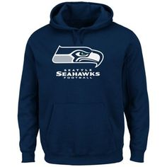 Mens Seattle Seahawks College Navy Critical Victory Pullover Hoodie