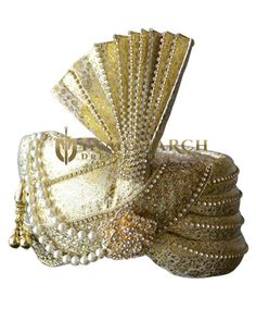 Brocade golden turban Pagari Safa Hat For Groom