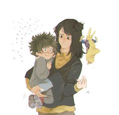 little izuku & his mom | Boke no hero academia