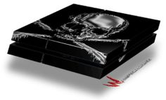 Chrome Skull on Black - Decal Style Skin fits original PS4 Gaming Console - http://androidizen.com/shop/chrome-skull-on-black-decal-style-skin-fits-original-ps4-gaming-console/
