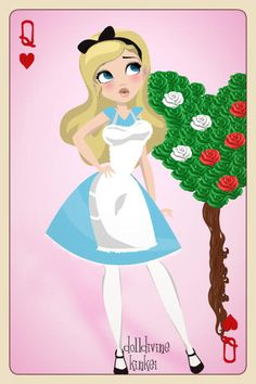 Alice in Wonderland ~ by Supersue11 ~ created using the Pin Up Deluxe doll maker | DollDivine.com
